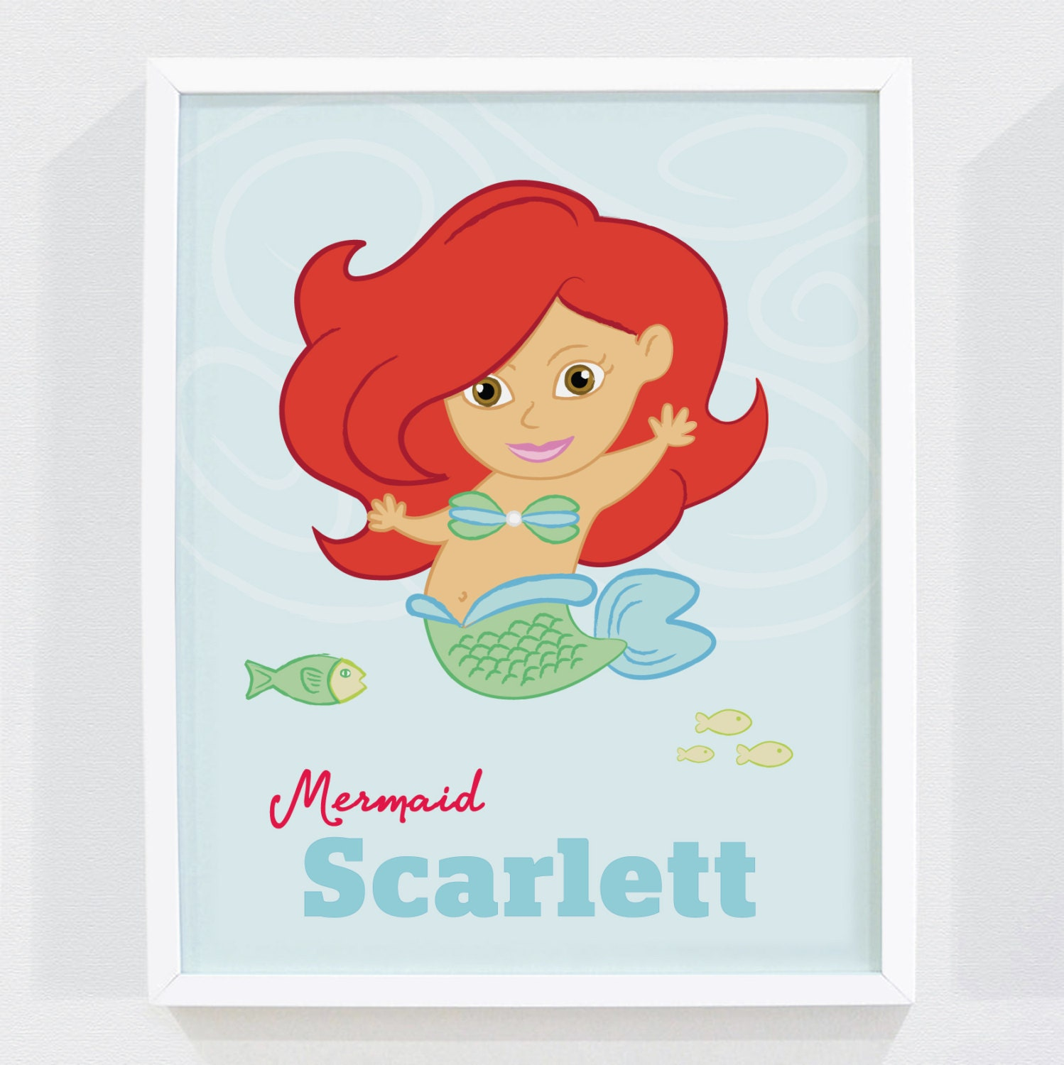 Mermaid Gifts Mermaid Decor Mermaid Art Print Mother S: Personalized Mermaid Art Print For Nursery Or By