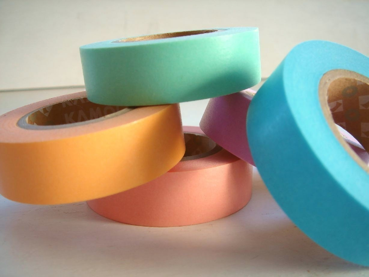 Japanese Masking Tape Pack of 5 - Light Color A