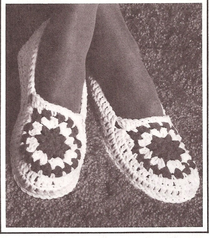 free crochet slipper