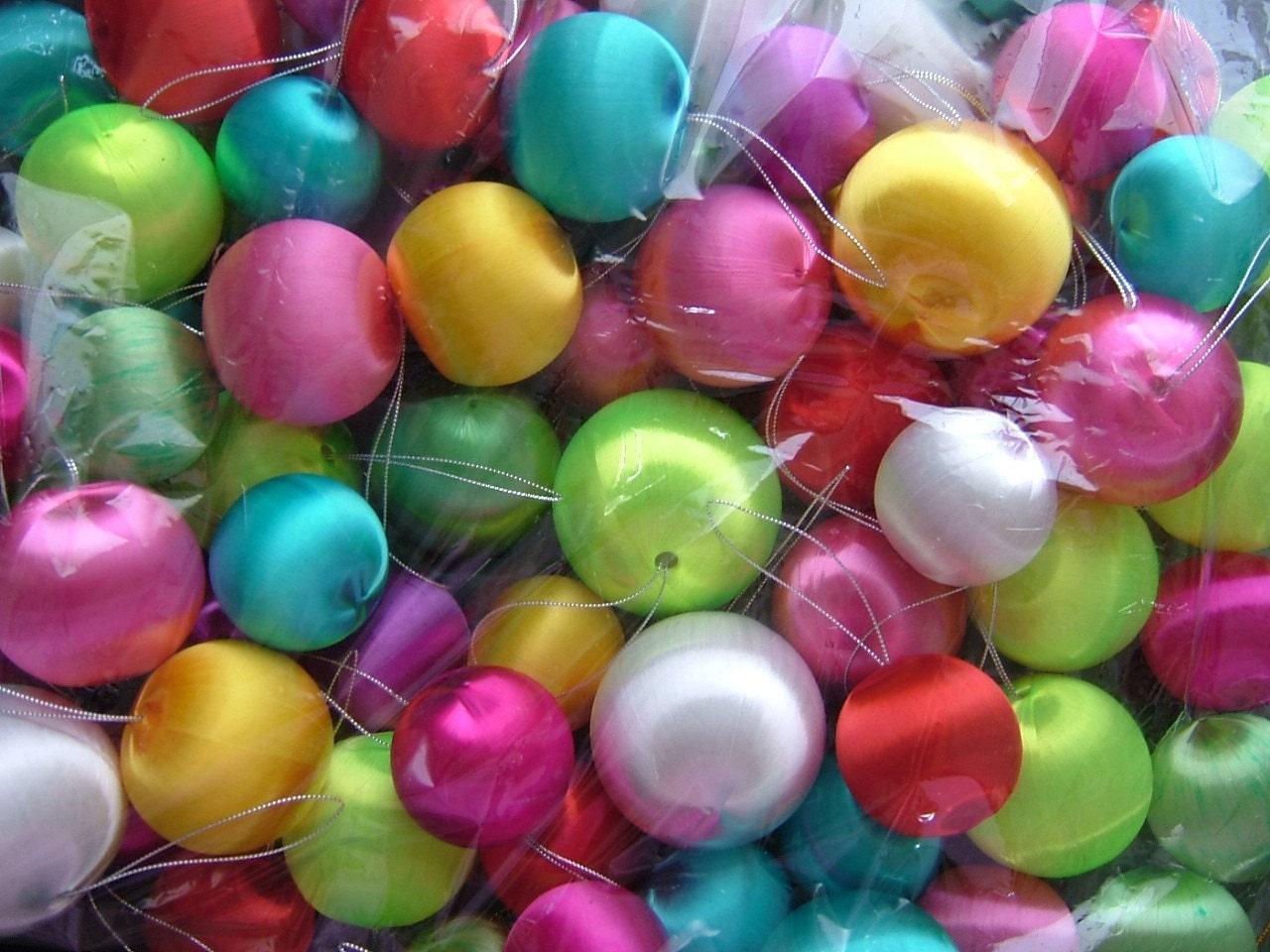 90 Satin Ball Ornaments Free Us Shipping By Projectorange