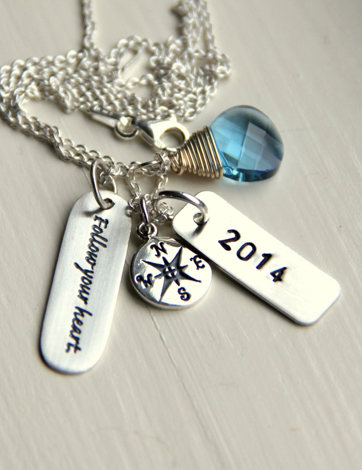 inspirational quote graduation necklace gift by