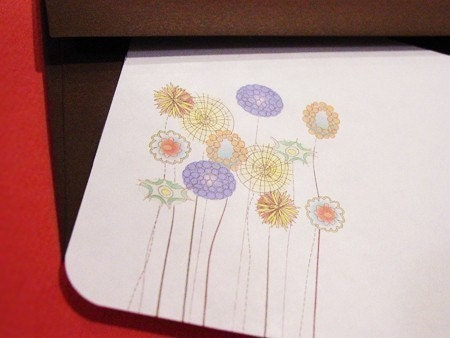 Wild Flower Flat Notecards