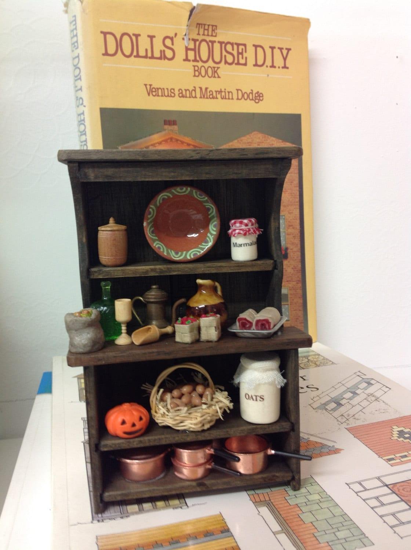 Dark oak 112th scale country kitchen dresser