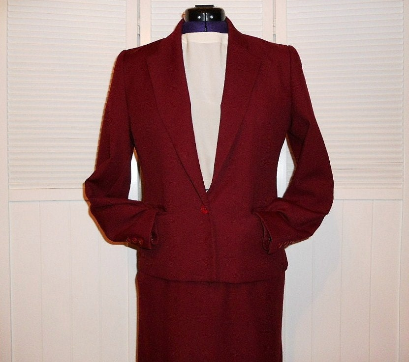 Lastest Vintage Burgundy Women39s Pant And Jacket Suit Size Xsmall Small