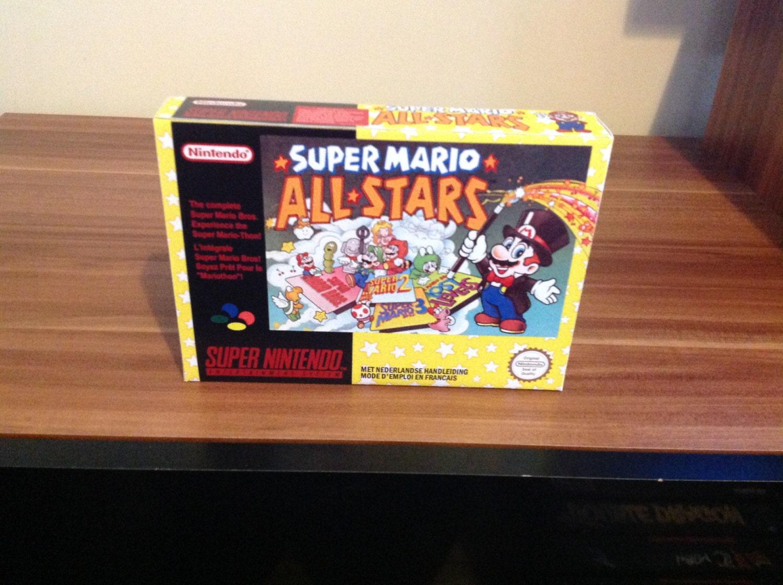 SNES Super Mario Allstars  Repro Box and Insert NO Game Included