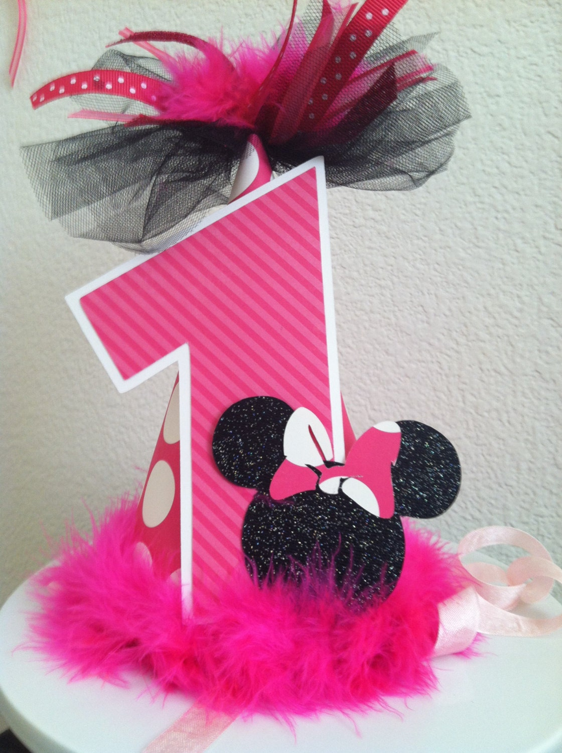 Minnie Mouse Birthday Party Hat Photo Prop by melizabethdesign