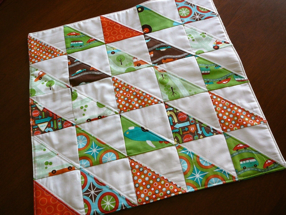 Boys mini quilt fabric for boys patchwork half by shancee for Quilt material for boys