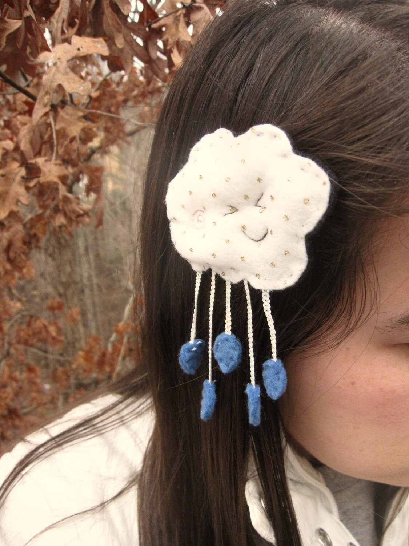 Rain Cloud Smiles Hairclip