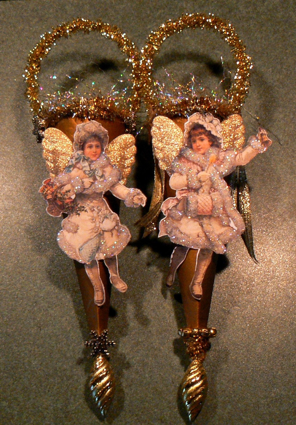 Victorian Vintage Style Snow Angel Cone By Cloudnineadornments