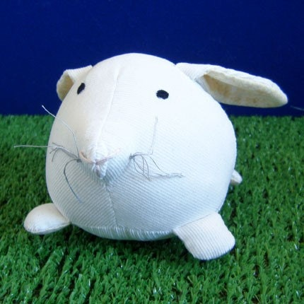 Fat Bunny - Eco-Friendly - White and Yellow - Small