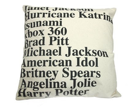 Etsy :: GOOGLE NEWS TOP SEARCHES IN 2005 PILLOW from etsy.com