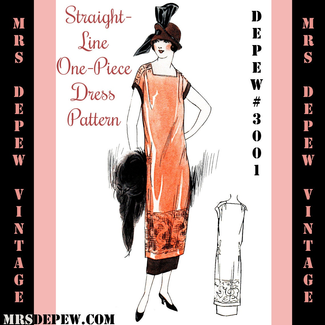 Vintage Sewing Pattern Instructions 1920's Flapper by Mrsdepew