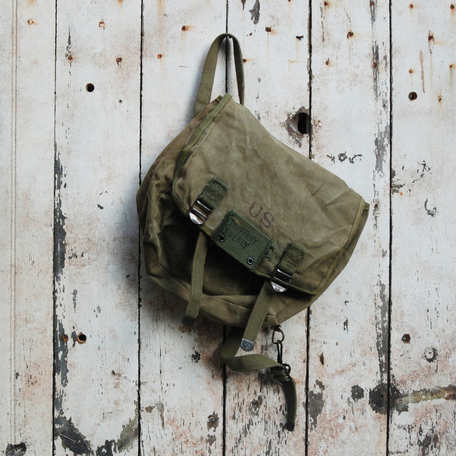 WWII Era small backpack once belonging to Geoffrey Eberly, US
