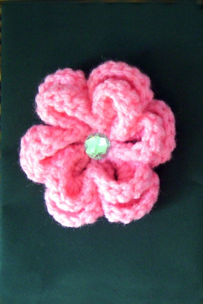 Hot Pink Flower Hair Clip
