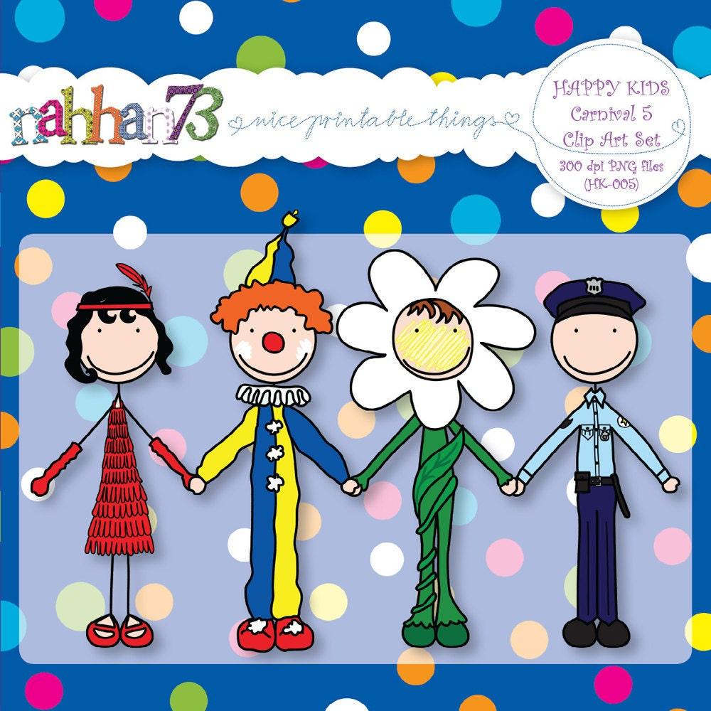 happy kids carnival 5 clip art set for banners by nahhan73. Black Bedroom Furniture Sets. Home Design Ideas