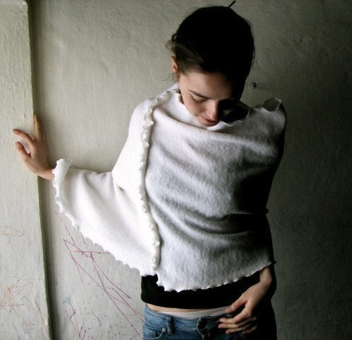 White Wooly Poncho