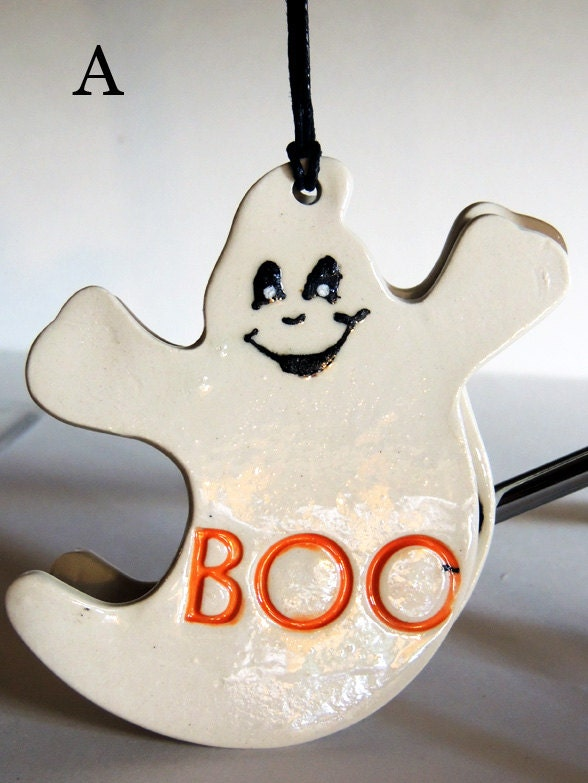Ghost ornament, Halloween decor, BOO, Casper the Friendly Ghost - JSBArts