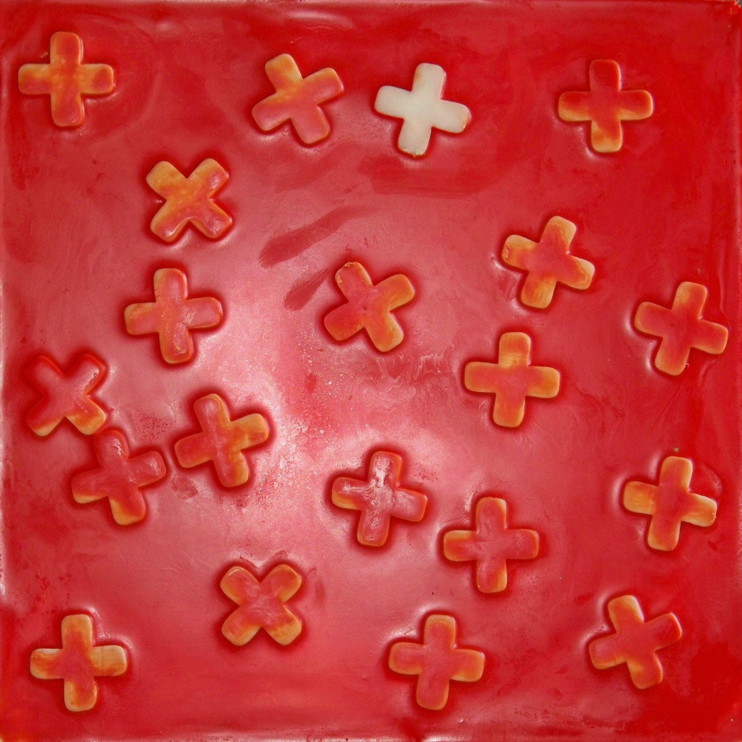 X Marks the Spot - Encaustic Art by Robin Tripaldi