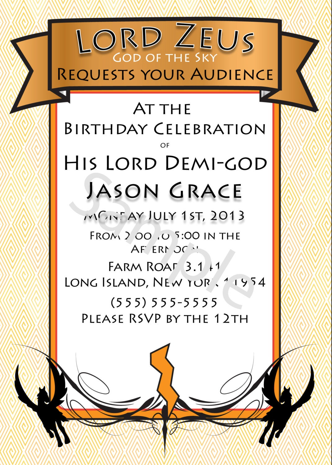 Percy Jackson Birthday Party Invitations with best invitation sample