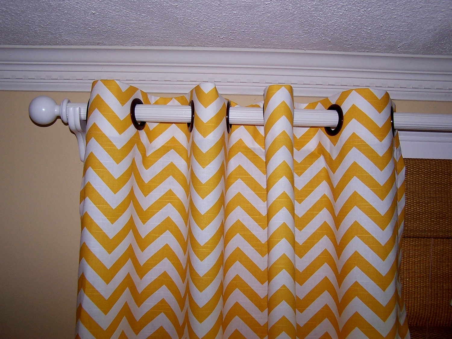 yellow chevron curtains premier fabric collection two