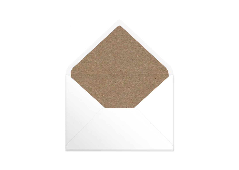 Printable Envelope Liner  Plain Brown Kraft Paper. Watercolour Liners. 9 Sizes. Envelope Template DIY Wedding Printable Invitation