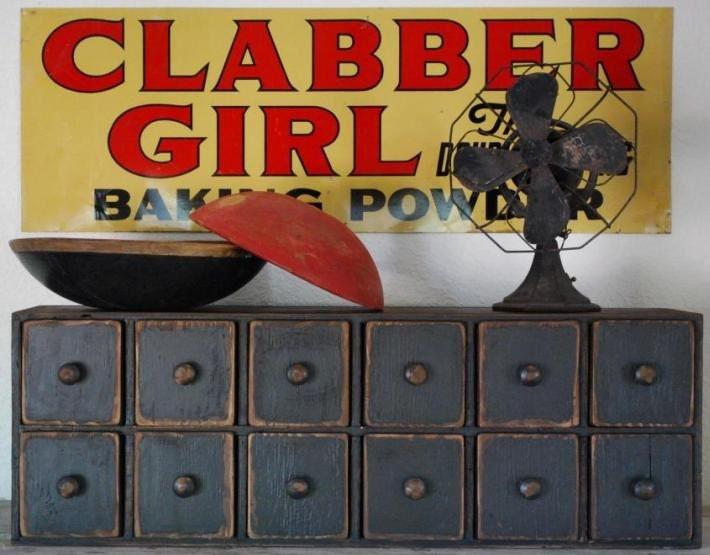 Vintage Antique Clabber Girl Baking Powder Advertising Sign 1952