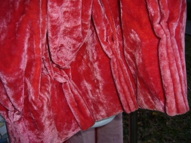Coral Pink Crushed Velvet Drapes Perfect By Avintagerevolution