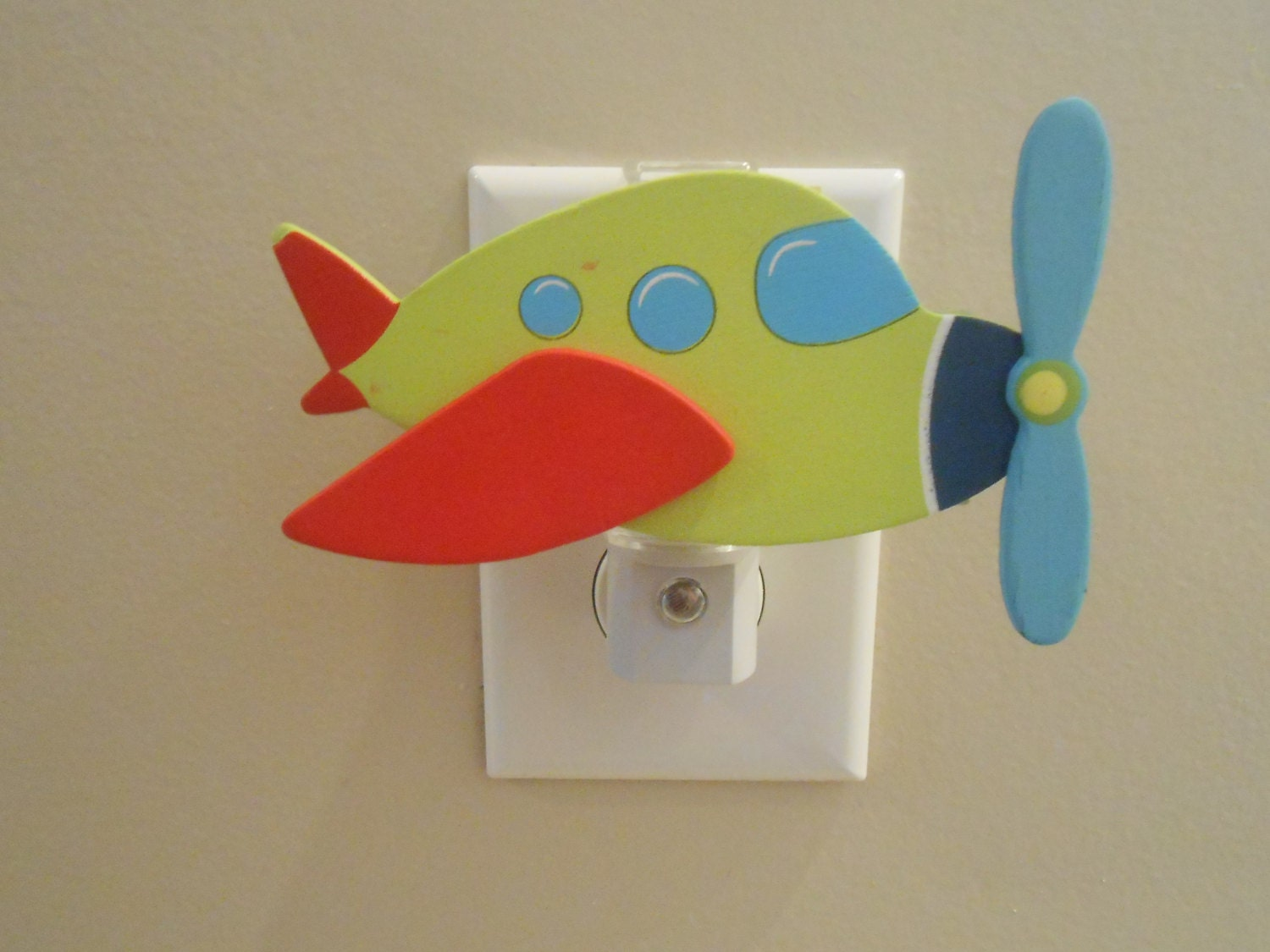 Airplane night light airplane decor it 39 s a boy by for Aircraft decoration