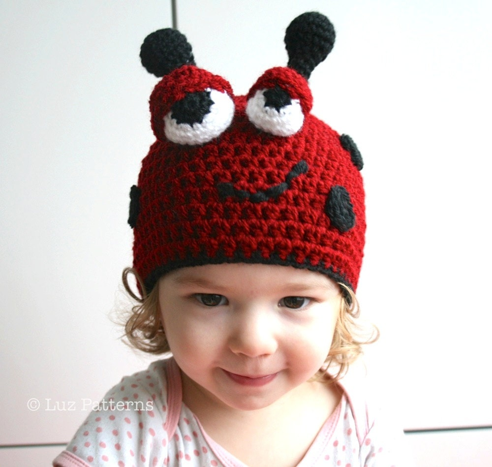 Free crochet patterns for baby ladybug hat dancox for crochet hat pattern crochet baby ladybug hat by luzpatterns bankloansurffo Choice Image
