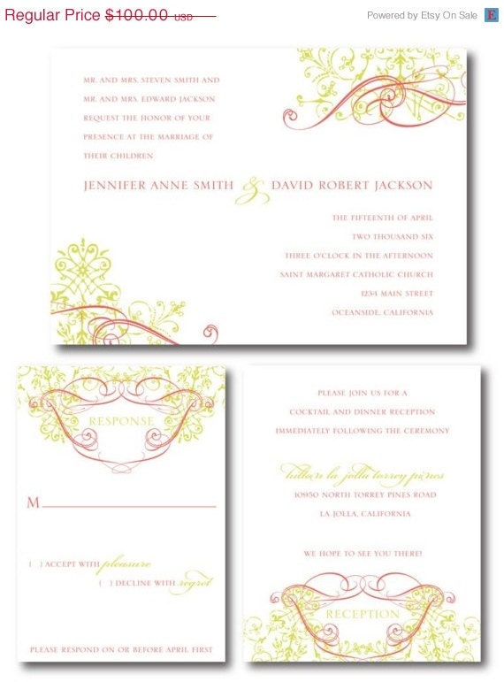 ON SALE Savannah Invitation Set (Digital Files)