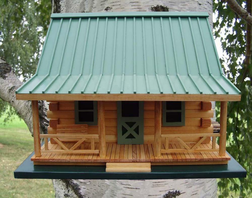Log Cabin Birdhouse By Createdbyrene On Etsy