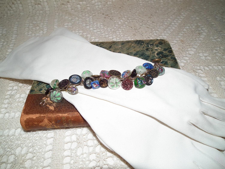 Paperweight button bracelet