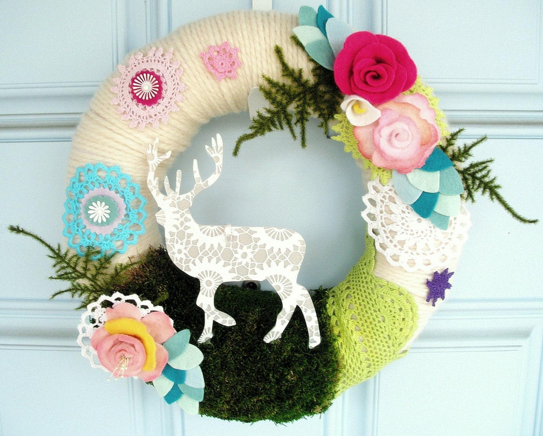 Chalet - Handmade Yarn Wreath