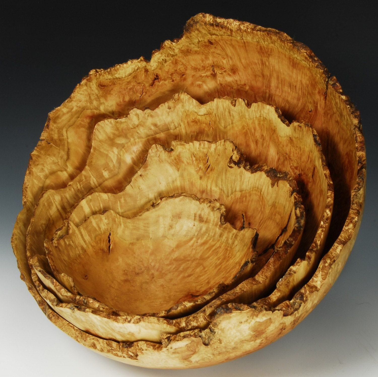 Red Gum Burl nested Bowl Set