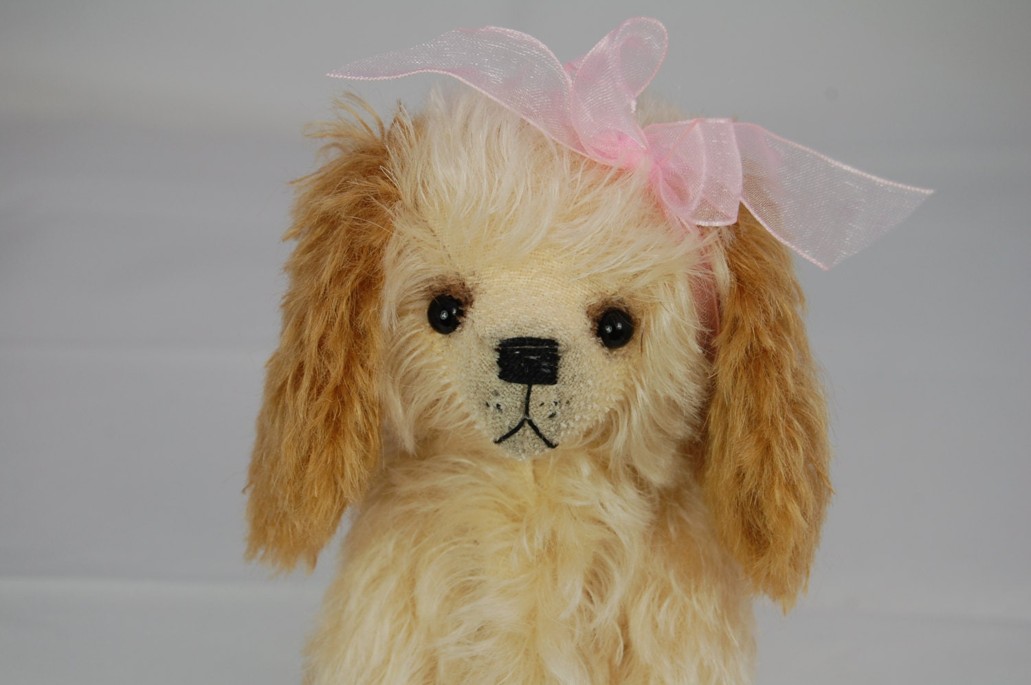 HENRIETTA  artist mohair dog - SALE PRICE until end of August - RowanBears