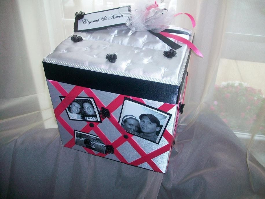Custom Made Wedding Card Box -With Photos-