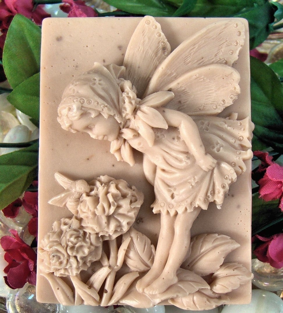 SLS free Amber Romance Fairy Soap made with shea butter soap