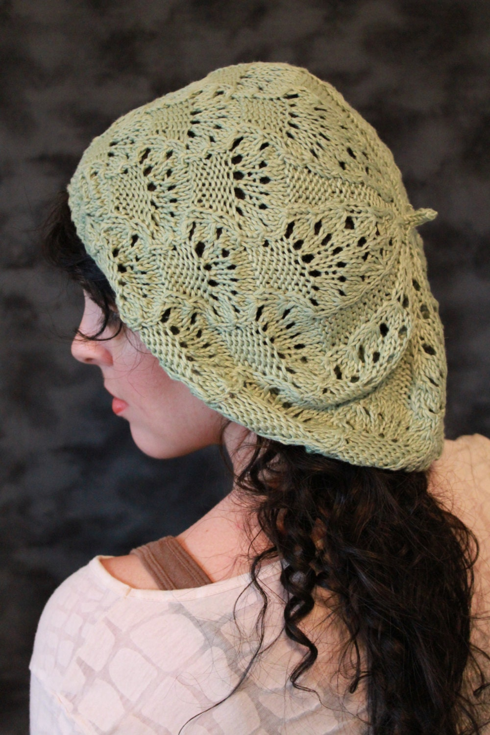 Items similar to Fairy Lace Beret: PDF Knitting Pattern by ...