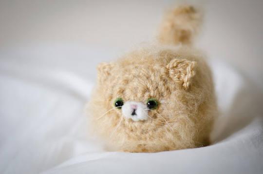 Mystery Kawaii Fluffy Fuzzy Kitten  Cute Amigurumi Kawaii Fluffy Kitten Crochet OOAK