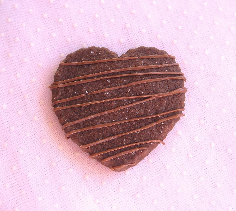 Chocolate Mocha Heart Shortbread Cookies - a Treasury item