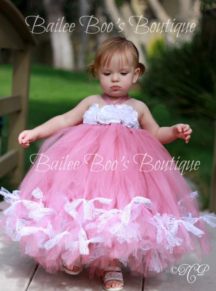 Dusty Rose Pink Tutu Petti Tutu Tutu Dress by