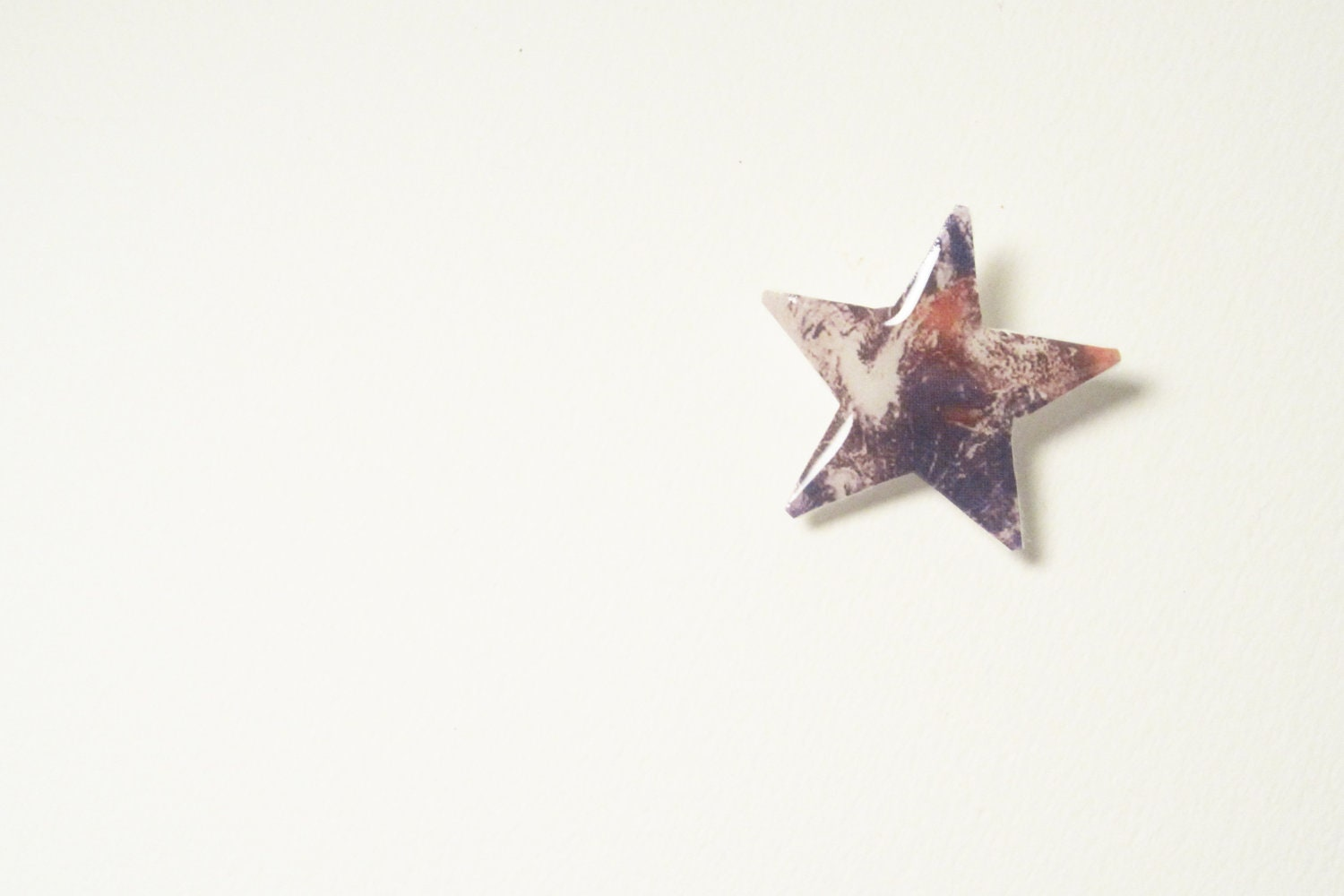 Mini Earth Star Hair Pin - Solar System Hair Accessories - Felt Hair Clip