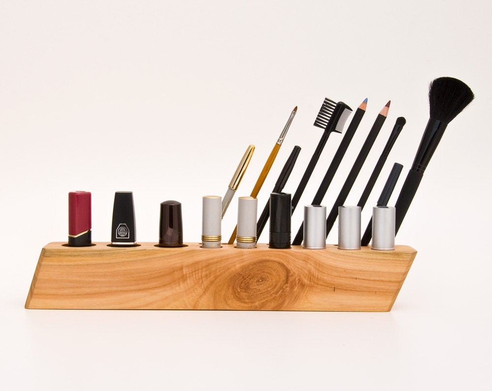 wooden makeup organizer countertop cosmetic by lessandmore. Black Bedroom Furniture Sets. Home Design Ideas