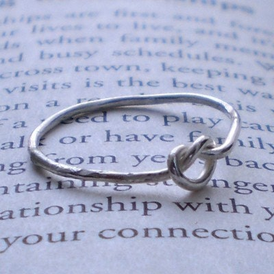 Knotted Up In You Rustic Sterling Silver Stacking Ring