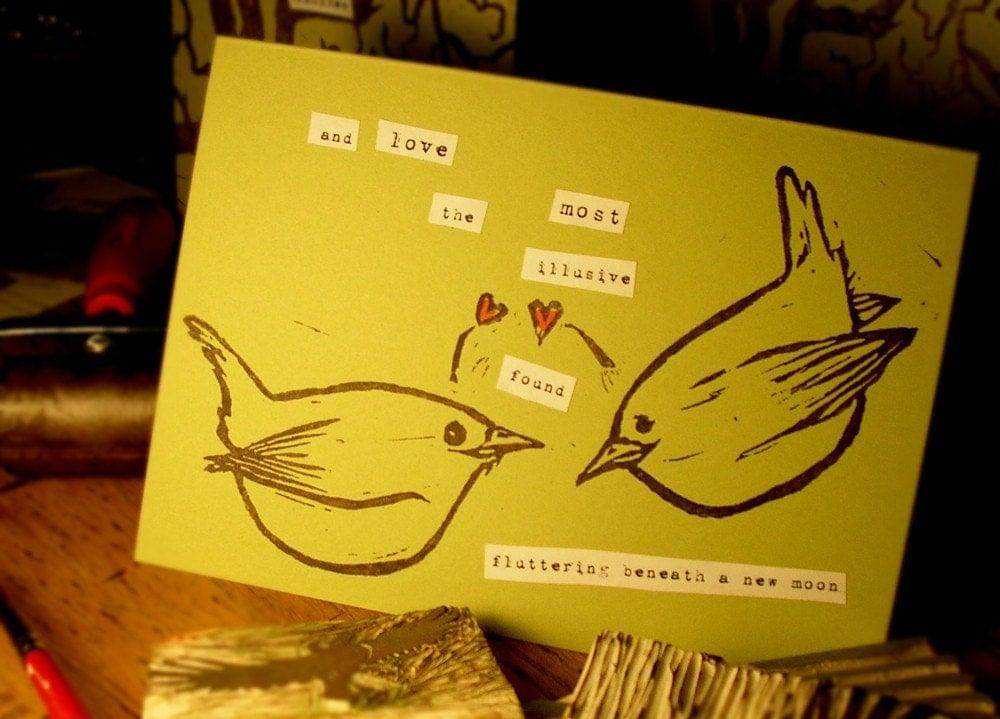 Fluttering Love Card