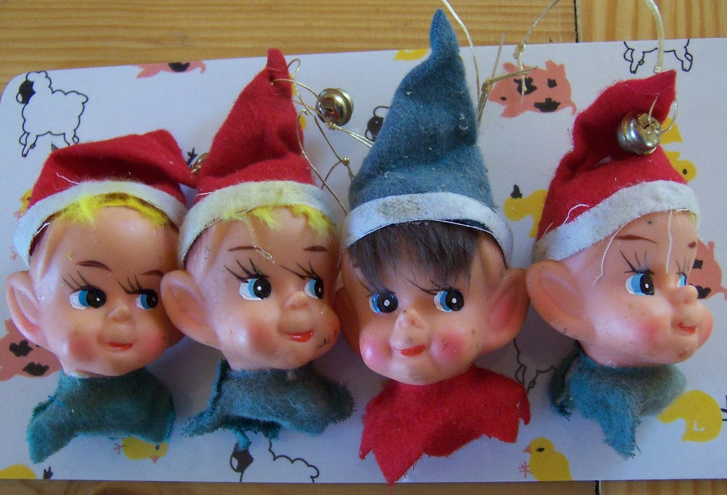 Crafts Plastic Elf Heads