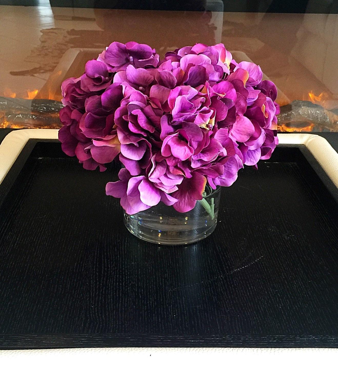 Diy purple centerpieces
