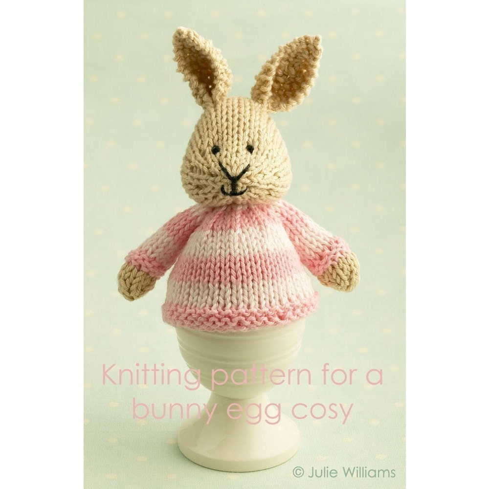 Easter Egg Cosy Knitting Pattern : knitting pattern for a bunny egg cosy by Littlecottonrabbits