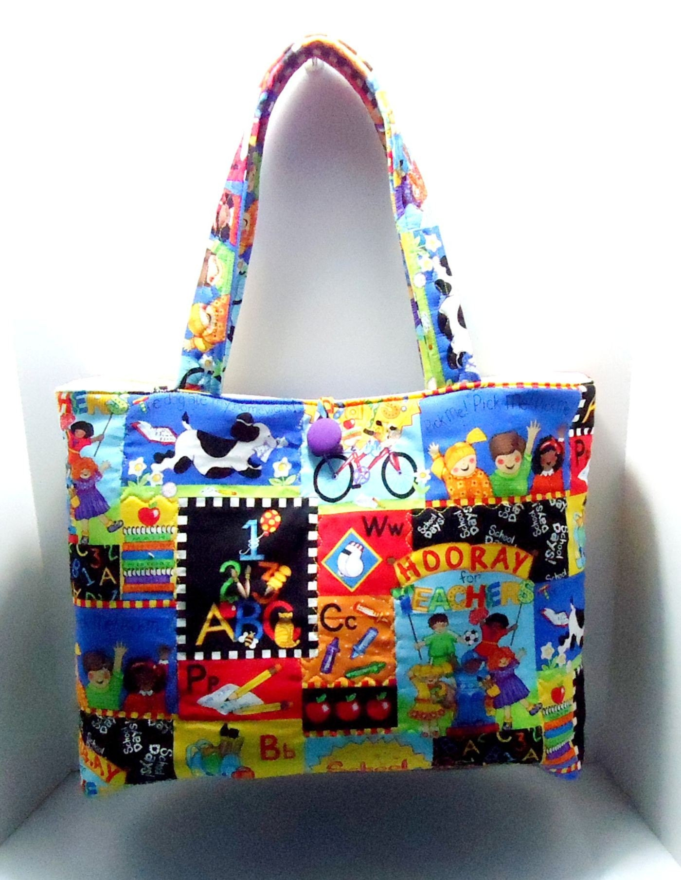 School Days Quilted Tote