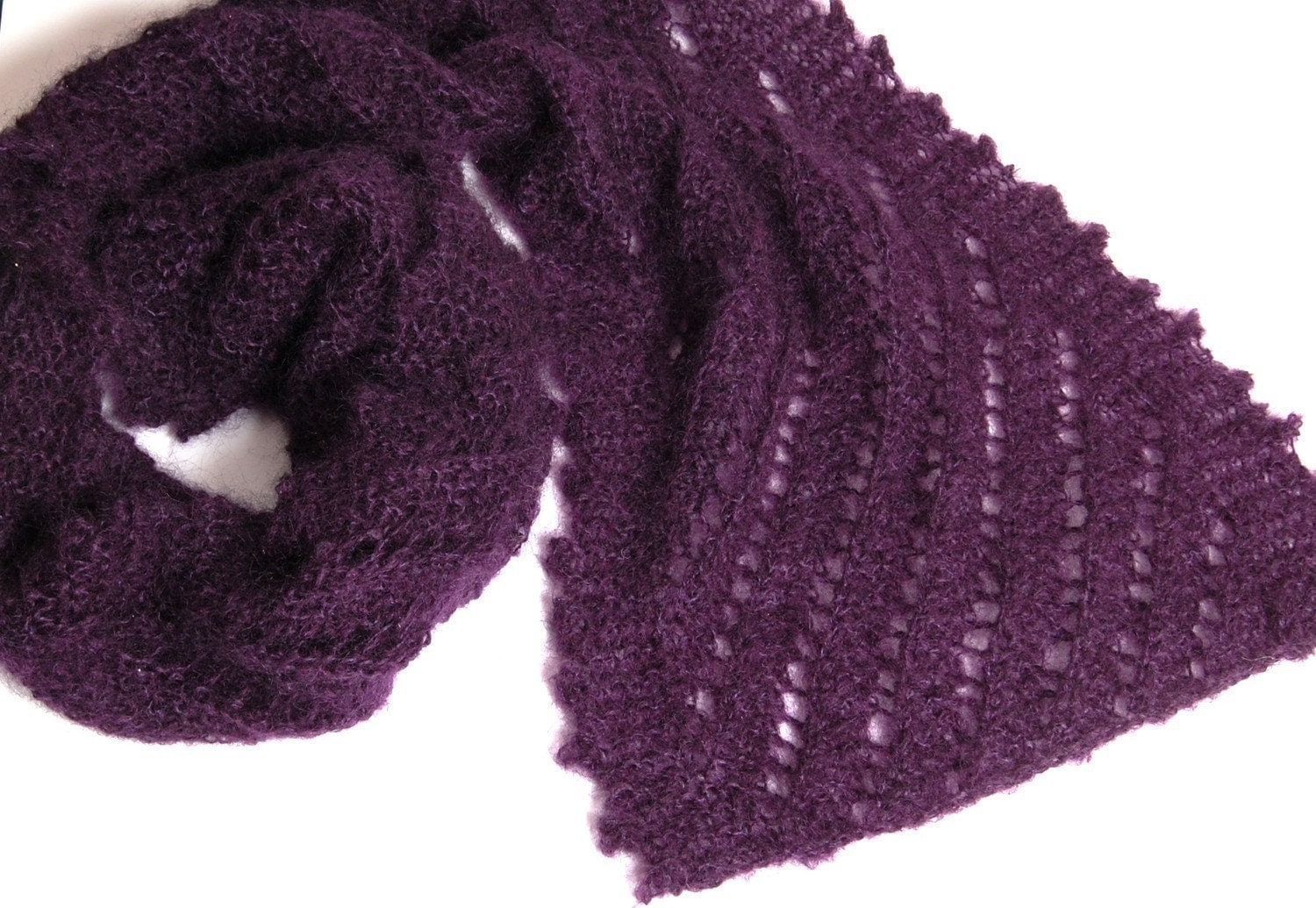 PDF - Knitting Pattern for The Ridges - Scarf (with either Fancy or Simple Edging)